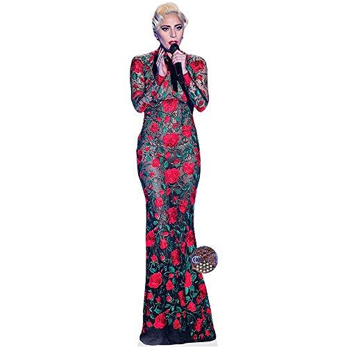 Celebrity Cutouts Lady Gaga (Singing) Pappaufsteller lebensgross