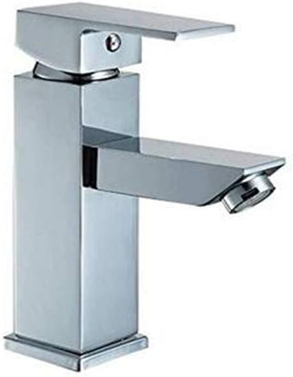 Hot and Cold Chrome-Plated Brass Kitchen Modern Chrome Washbasin Mixter Tap Bathroom Brass Basin Faucet Hot and Cold Water Faucet