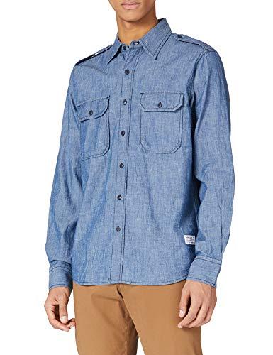 REPLAY M4050 Camisa, 009 Azul Medio, S para Hombre