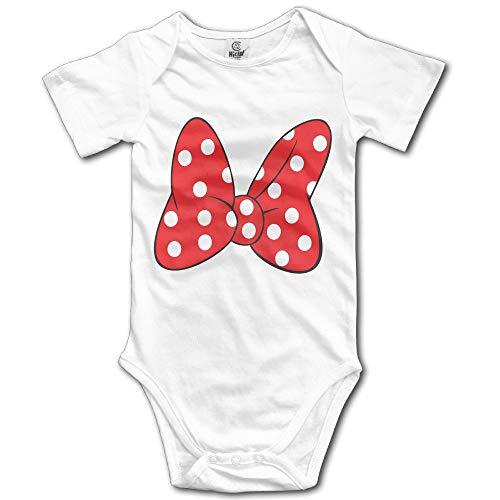 SDGSS Combinaison Bébé Bodysuits Unisex Baby One-Piece Suit Unique Minnie Bow Red Short-Sleeve Bodysuit 100% Cotton Boys Girls 0-24 Months