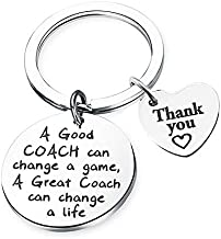 Coach Thank You Gifts - Thank You Coach Keychain Gifts A Good Coach Can Change a Game,A Great Coach Can Change a Life Keychain Birthday New Year Christmas Gifts