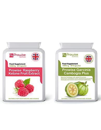 Raspberry Fruit Extract 1200mg - 60 Capsules + Garcinia Cambogia 500mg 60...