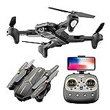 HJRBM Drone Quadcopter UAV con cámara de 48MP 4000W Video Cardán de 3 Ejes Tiempo de Vuelo de 15 min, función de Sensor de Gravedad, despegue/Aterrizaje con una tecla, Negro 4000W