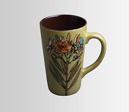 Longless Creative, personnalité, peint à la main, en céramique, Mug, tasse à café, tasse de jus de fruit, lait Tasse, fonctionnalité, Art, Couple de football b