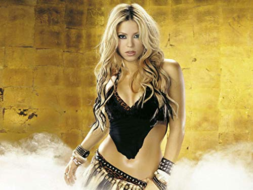 Firefly Arts Shakira 47cm x 35cm 19Zoll x 14Zoll Poster auf Seide - Kunstdrucke