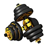 Hanteln 20KG (44 lbs) Einstellbare Dumbbells Gewichtssatz mit beweglicher Box for Gym Startseite...
