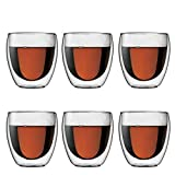 Bodum PAVINA Double Walled Thermo Glasses 0.25 L, 8 oz, Pack of 6