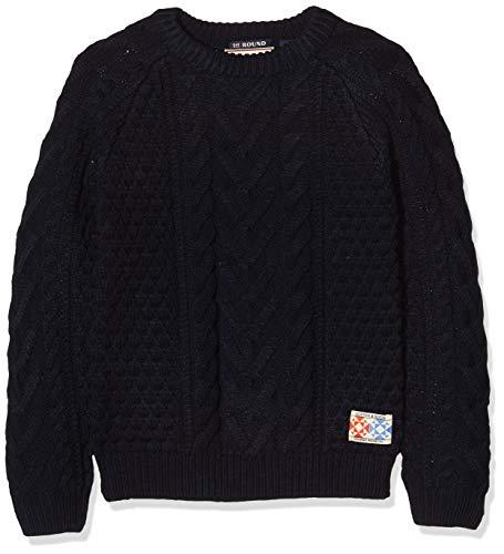 Scotch & Soda Jungen Cable Knit Pull Pullunder, Blau (Night 002), 128 (Herstellergröße: 8)