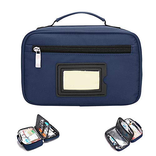 Portable Insulin Cooler Bag Travel Case Waterproof Medical Diabetic Organizer Medication Insulated Cooling Bag, Blue