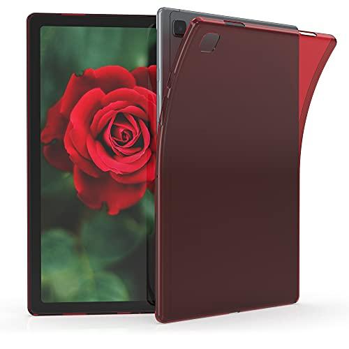 kwmobile Schutzhülle kompatibel mit Samsung Galaxy Tab A7 10.4 (2020) - Hülle - Silikon Tablet Cover Case Rot Transparent