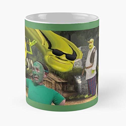 Life Meme Sipe Funny Raysipeladygaga Shrek LadyGaga is Ray Best Taza de café de cerámica de 315 ml Eat Food Bite John Best Taza de café de cerámica de 315 ml