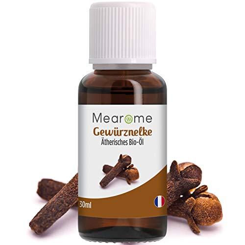 Nelkenöl BIO   Ätherisches Öl 100% Naturrein   Gegen Zahnschmerzen + Müdigkeit Gewürznelke   Aromaöl Nelken Aroma Duftöl für Duftlampe Aromatherapie Clove Bud Oil Essentials   Bien-Être Mearôme