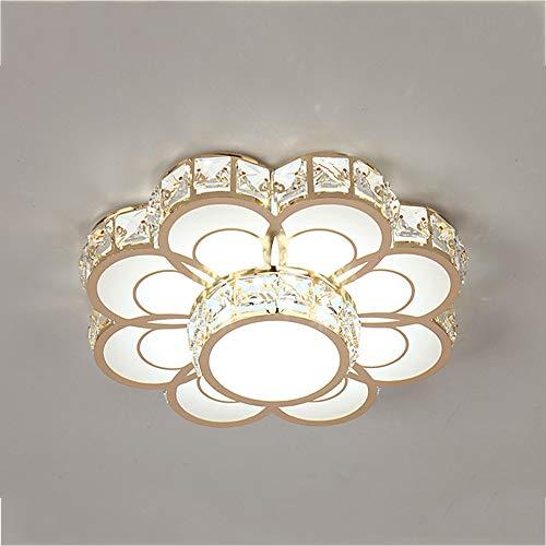 Modern LED Deckenleuchte Kristall Deckenlampe Dimmbar Wand Schalter Metall Acryl Schlafzimmer Licht 36W Runde Deckenlicht Weiß Goldfarbe, Für Arbeitszimmer Wohnzimmer Innenbeleuchtung Ø30cm