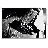 CALVENDO Toile en Textile de qualité supérieure 120 cm x 80 cm, chevalet et Corps d'une Guitare Acoustique | Tableau sur châssis | Impression sur Toile sur Toile véritable | Art