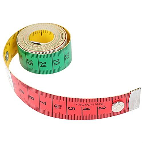 kengbi Cinta métrica Reutilizable Que no es fácil de Romp 1 UNID Cuerpo MEDICIÓN RÁPANDO Costura Cinta Tapa Mini Mini Suave PLANDO PLANDO Centimeter Medidor de Costura MEDICIÓN MEDICIONESED 60IN 1.5M