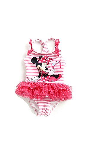 Disney(ディズニー)ミニーマウス 可愛いキッズ用水着 子供 (130) [並行輸入品]