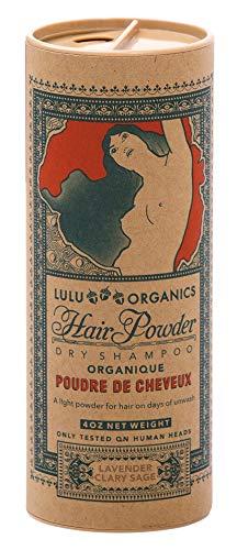 Lulu Organics Lavender and Clary Sage Hair Powder/Dry Shampoo, 4 oz
