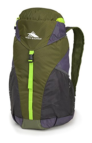 High Sierra 20L Packable Sac à dos de sport, mixte adulte, Moss/Mercury/Chartreuse