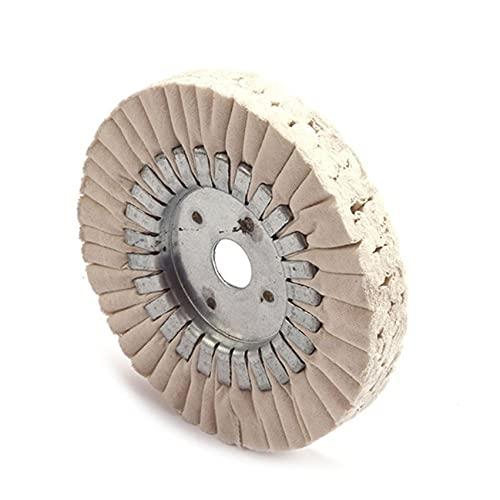 LPOQW Rueda de pulido de 6 pulgadas Rueda de pulido de algodón Pulido de pulido de la rueda de pulido Arbor Pulisher Disco Pad 25mm Agujero