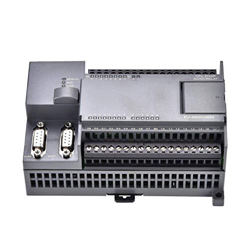 HUAHUA Cicly Timer Relay Controlador Lógico Programable, AC220V 7W CPU224XP relé de salida Controlador de Nivel Industrial acoplador óptico de lógica programable for la máquina Tablero industrial