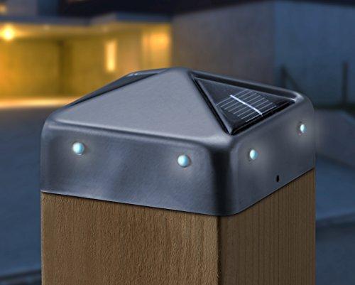 Hapro LED-Edelstahl Pfostenabdeckungen 2er Set 91x91mm