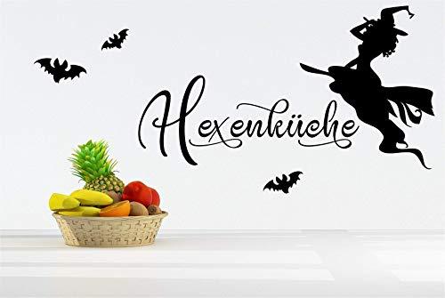*NEU* Wandaufkleber/Wandtattoo/Wandsticker - Spruch für die Küche ***HEXENKÜCHE - 01*** (Größen.- und Farbauswahl)