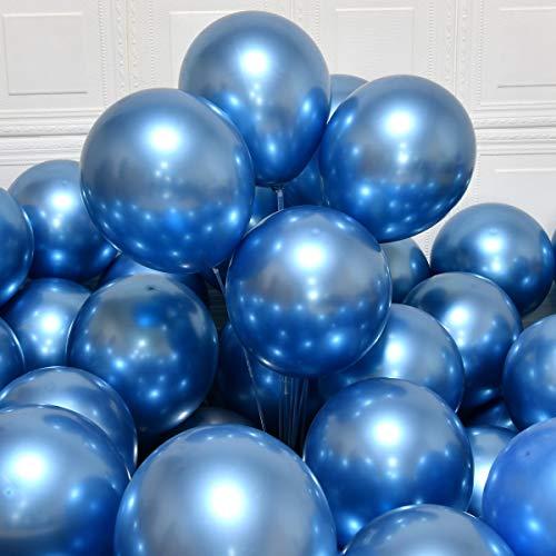 Palloncini festaioli 12 inch 50 pezzi palloncini lattice metallizzati Palloncini cromati Palloncini compleanno palloncini lucenti Decorazione festa matrimonio compleanno Baby Shower festa natalizia