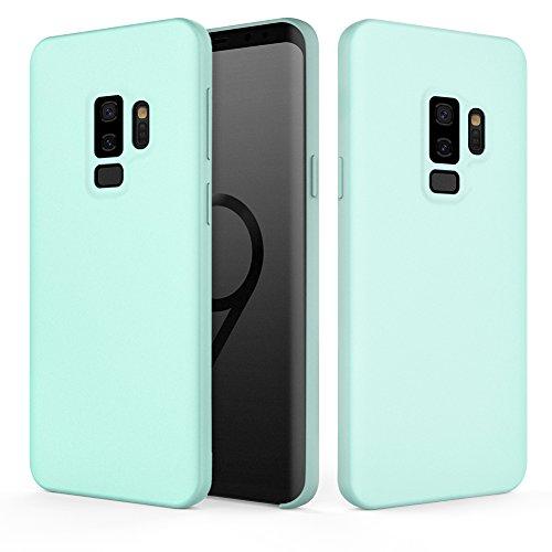 Fuleadture Galaxy S9 Plus Case, Samsung Galaxy S9 Plus Original Liquid Silicone Case [Ondersteunt draadloze oplader] vloeibare siliconen microvezel Case Cover krasbestendig Phone Case voor S9P S9 + 6,2