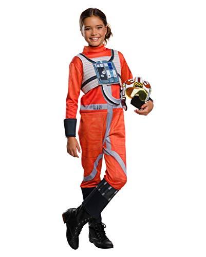 Horror-Shop Lizenziertes Star Wars X-Wing Fighter Pilot Kinderkostüm für die Motto Party L