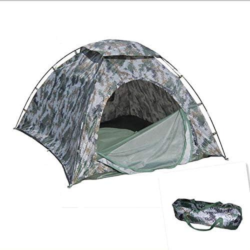 Ji Yun Tente de Camping Double Tente Touristique Camping en Plein air Tente de Camouflage Tente de Soldat Individuel Tente imperméable à l'eau Portable (Taille   Single)