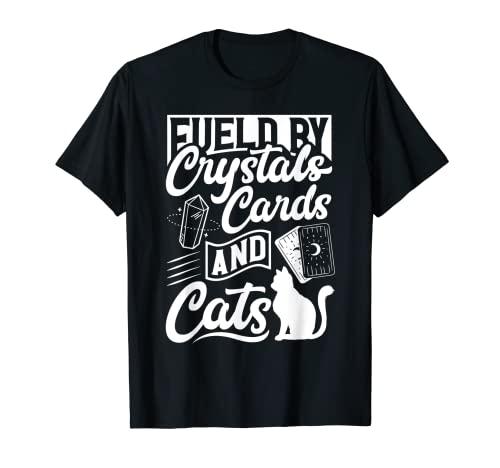Witchcraft Wicca Pagan Combustible por Cristales Tarjetas Y Gatos Camiseta