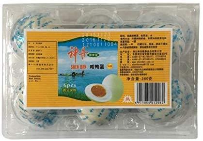 鹹鴨蛋【2点セット】(ゆで塩卵・塩蛋・鹹蛋・味付け卵) アヒルの卵 中国名産 360g(6個入)×2