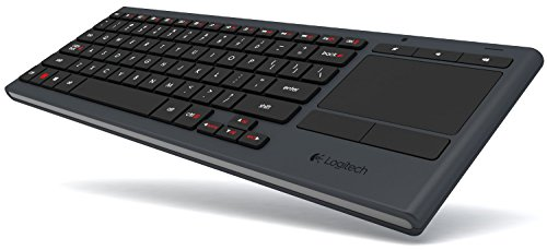 Logitech Illuminated Living-Room Wireless Keyboard K830 and Touchpad for Internet-Connected TVs (Renewed)