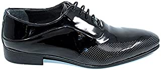 Tanboğa 1526 Günlük Siyah Rugan Klasik Erkek Ayakkabı