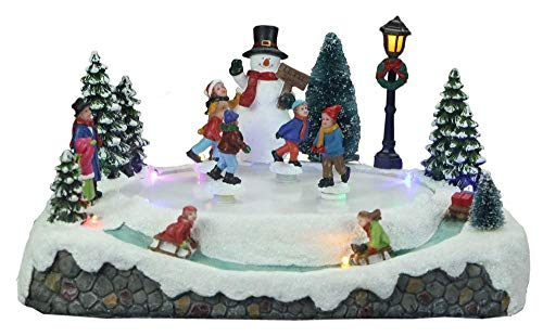 Top Treasures Snow Village Skating Pond | Lighted Christmas Village | Perfect Addition to Your Christmas Indoor Decorations & Holiday Displays