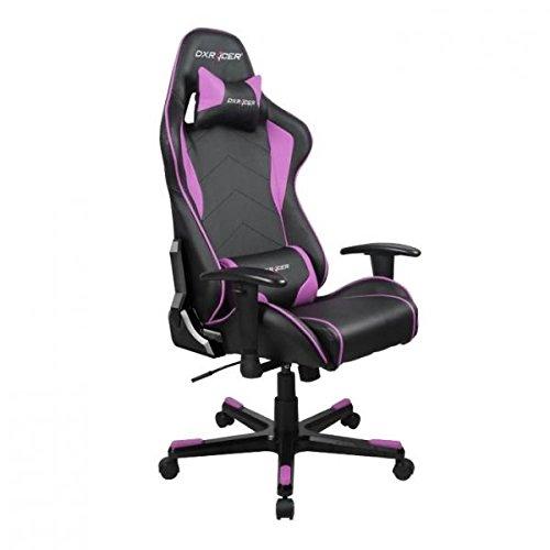 DXRacer OH/FE08/NP DX Racer, F-Serie, Formular Serie, Bürostuhl, Drehstuhl, Kunstleder schwarz-pink, das Original