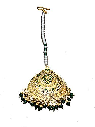 GemsOnClick chapado en oro-cobre Green perla, circonita esmeralda.