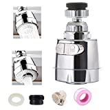Universal 360° Rotatable Sink Faucet Sprayer Attachment;Newcool Movable Kitchen Tap Head,Anti-Splash Faucet Nozzle Head Replacement,Tap Booster Shower Water Saving Faucet Filter Diffusser(Short 8cm)