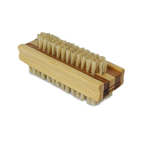 Vivezen ® Brosse à ongles 10 cm double face en bambou et poils de sanglier - Norme CE