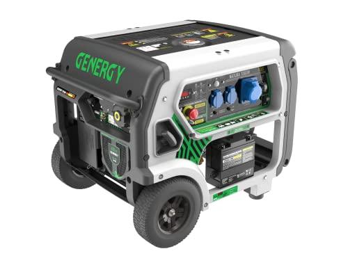 Generador de corriente Gas Pro Natura 7000 Hybrid Dual Fuel, generador de corriente de gas y gasolina, 7000 W, 230 V, arranque eléctrico, generador de gas