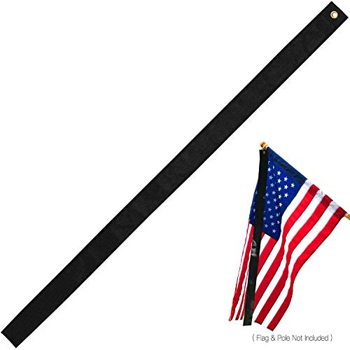 Anley Mourning Flag Streamer (5'x 2.75