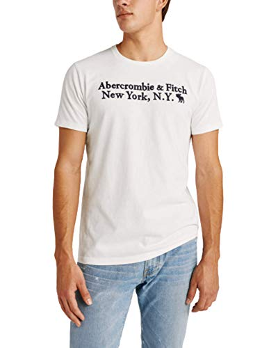 Abercrombie & Fitch Short-Sleeve Logo Tee (White, XL)