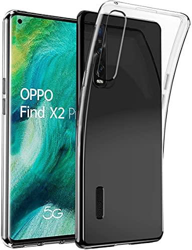 Bravoday Hülle für Oppo Find X2 Pro, Silikon Gel TPU Soft Cover Hülle Schutzhülle Kratzfeste Shockproof Hülle Handyhülle für Oppo Find X2 Pro, Transparent