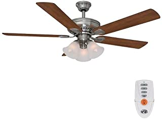 Hampton Bay Campbell 52 inch brushed nickel ceiling fan