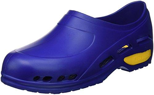 Gima - Zapato de trabajo profesional ultraligero, aireado, anatómico, antichoque, antideslizante, antiestático, sin látex, color azul, talla EU 39, 1 par.