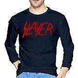 ブルームン Tシャツ 長袖 Slayer スレイヤー トレーナー シャツ 上着 ファッション カットソー M Navy 綿 メンズ レディース