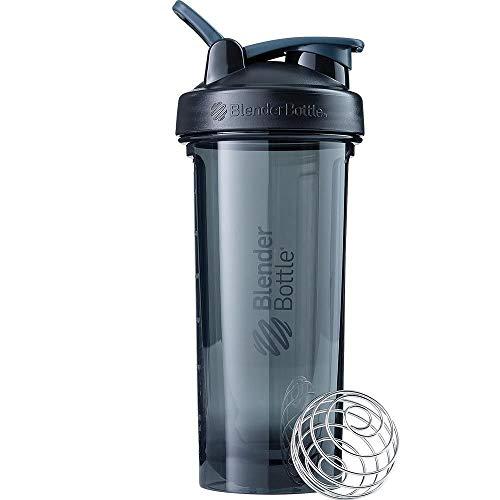 BlenderBottle Pro24 - Botella de agua, Botella mezcladora de batidos de proteínas, con batidor Blenderball, libre de BPA, 710ml - emerald verde