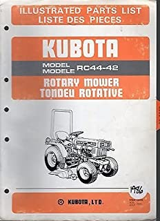 KUBOTA ROTARY MOWER RC44-42 ILLUSTRATED PARTS MANUAL AUG 1986