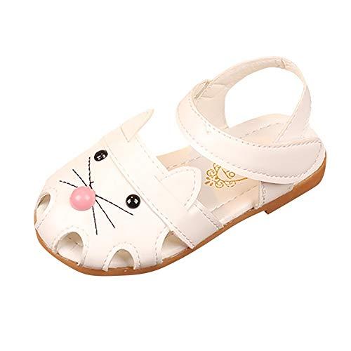 YWLINK Sandalias NiñAs,Lindo Gato Dibujos Animados Imprimir Sandalias Princesa Casual Shoes Zapatos De Playa Zapatillas De Baile Baotou Fiesta De Bodas Regalo De CumpleañOs