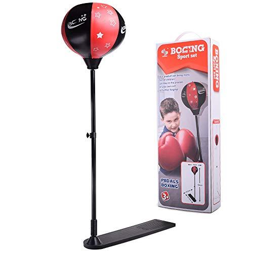 Kinder vertikale Boxball, Kombination Set mit Handschuhen, Pedal Feder aufblasbare Boxsack, Kinder Sportspielzeug, Sportausrüstung
